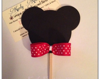 Mickey Mouse Cup Cake Toppers, card stock, disney