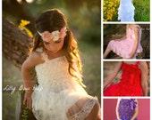 CHOOSE your COLOR- Baby Girl Clothes -Flower Girl Dress-Baptism Dress-Lace Dress-Newborn Girl Clothes-Christening Dress-Wedding-Bridal Dress