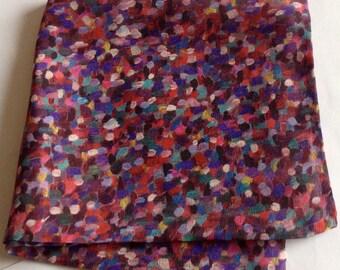 Purple rainbow Liberty of London silk pocket square