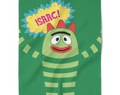 Hand Made Custom Brobee Blanket Inspired by the Yo Gabba Gabba Sleep Episode Monogram Personalized Blanket Plush Throw Great Gift