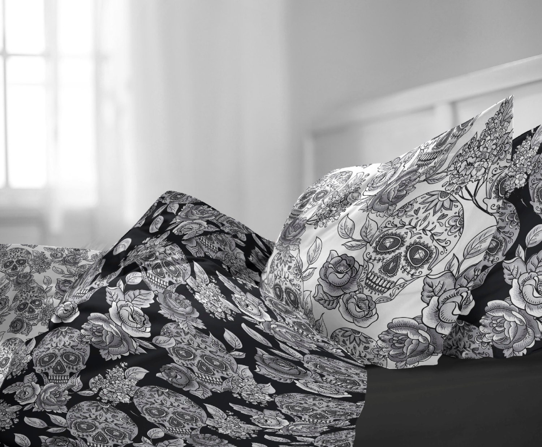 Candy Skull Bedding: Sugar Skull Personalized Custom Bed Linen Bedding By