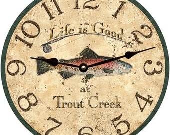 Trout Clock- Personalized Trout Clock
