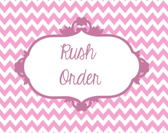 Rush Order for DIY/PRINTABLE Invitations Only