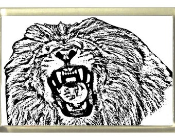 Lion Fridge Magnet 7cm by 4.5cm,