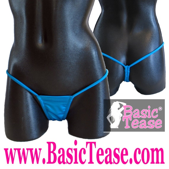 Thong / Adjustable Scrunch for Rise - Low Rise Stripper Thong / Stripper Clothes / Stripper / Stripper Wear / Micro Thong / Stripper Thong