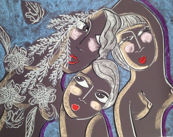 A Spring in my step -Original pastel art by Australian Artist Samantha Thompson