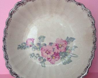 Ivory Porcelain Sebring Bowl, Vintage Serving Bowl, Vintage Bowl