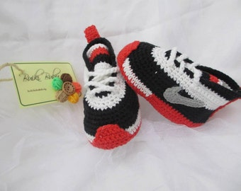 Crochet Nike inspired tennis shoes , handmade , crocheted , swoosh ...