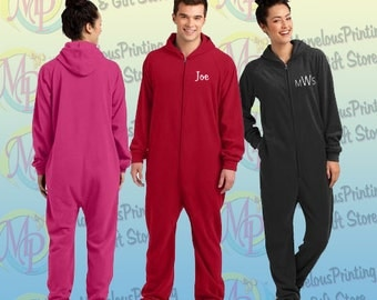 Embroidered District® Adult Fleece Lounger (Adult Onesie!)