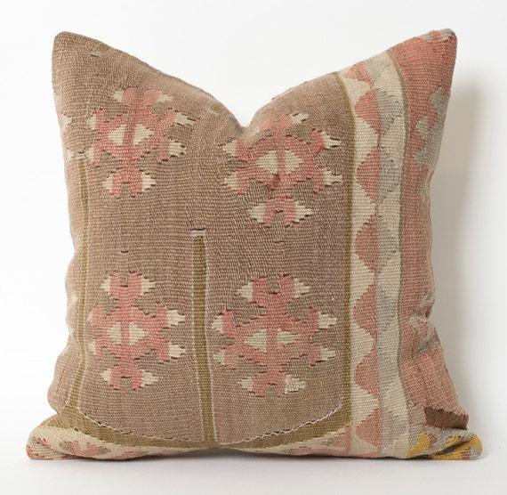 Pastel Kilim Pillow Cover Vintage Kilim Pillow By Pillowme