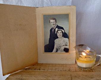 Vintage 1950s COLORISED PHOTO of COUPLE, colorised photo, couple, vintage couple, engagement, love, post-war, retro