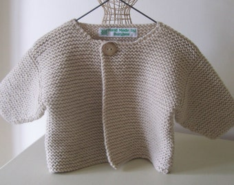 """Knitting Pattern for """"Simple""""Baby Cardigan"""
