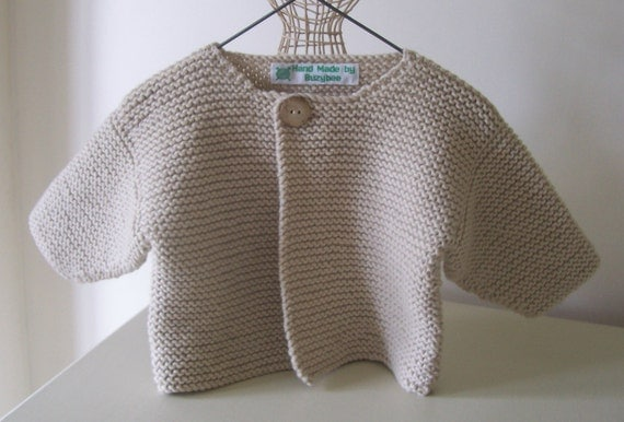 Knitting Pattern for SimpleBaby Cardigan