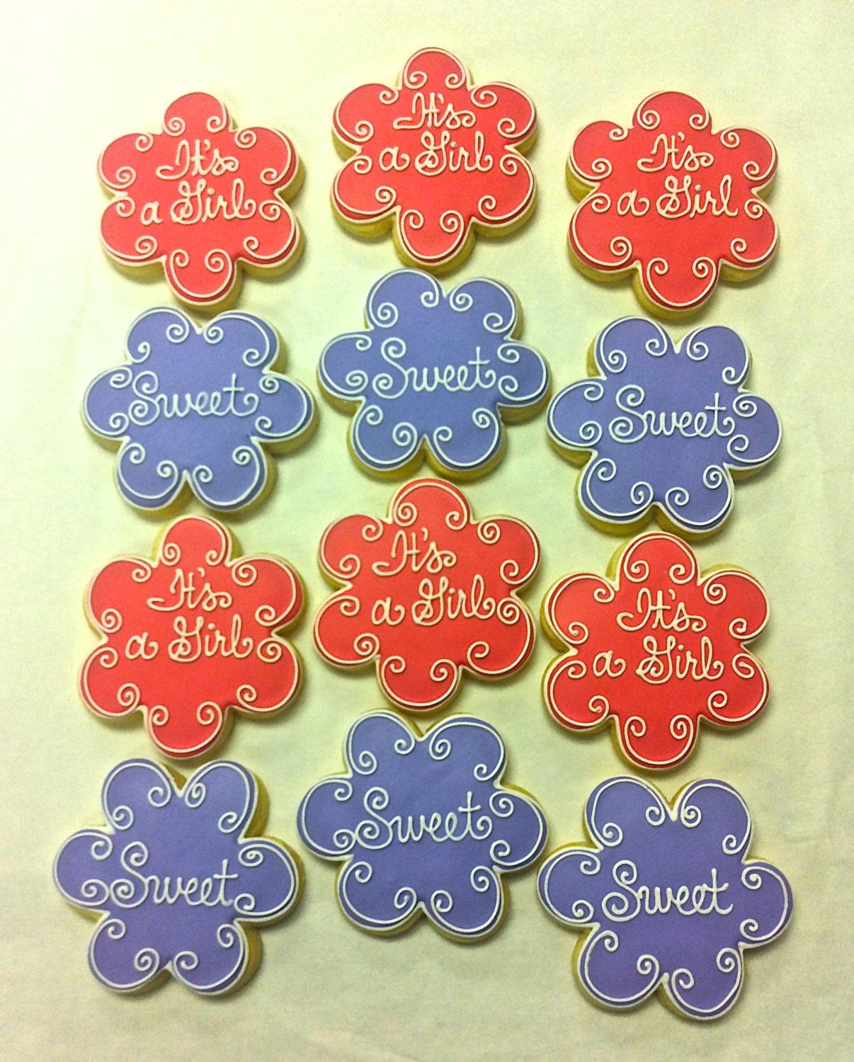 Baby Shower Cookie Favors Birthday Cookies Thank You