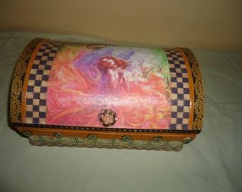 Woodland Fairy Treasure Chest/Jewelry Box/Tea Box