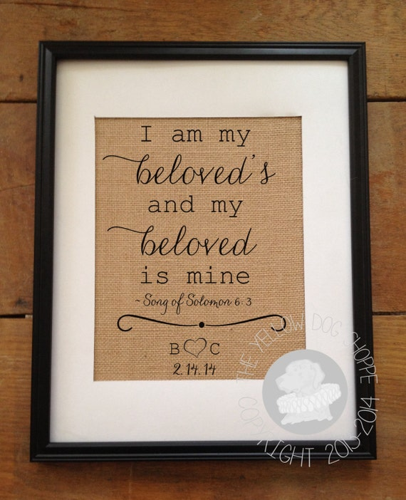 I Am My Beloved's And My Beloved Is Mine Song Of Solomon