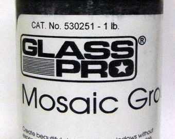 1 lb Glass Pro Mosaic Grout - Designed for stained glass mosaics! Won't scratch your tiles.