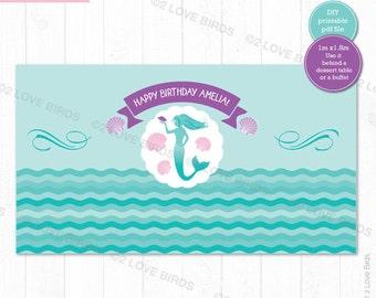 Mermaid Printable Backdrop