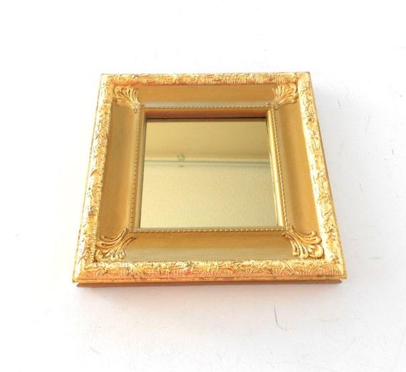 Gold Square Wall Decor : Square mirrordecorative wall mirrordistressed gold leaf