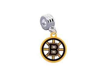 Boston Bruins Hockey European Charm for Bracelet