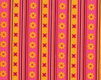 Michael Miller- Flowery Stripe Andalucia DC3898-  Pink Fabric- 1 yard