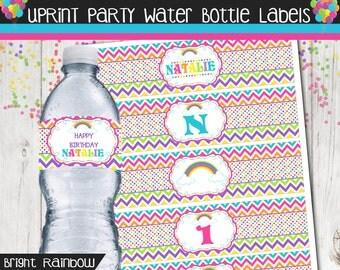 Personalized Rainbow Bottle Wrapper Set
