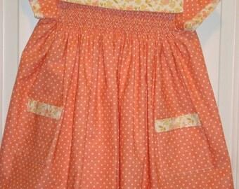 Hand Smocked Toddler Dress, size 3