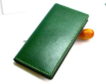 Leather iPhone 6 wallet- Leather iPhone 6 Plus case- Handmade iPhone 6 case