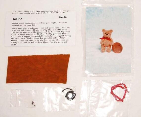 Diy Micro Mini Teddy Bear Kit Pattern Miniature Doll House