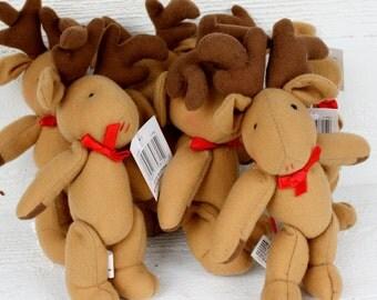 Plush Reindeer Dolls- Set of Six