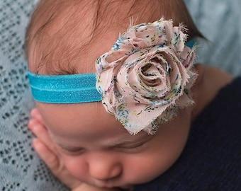The Floral Blush Shabby Chic Headband or Hair Clip