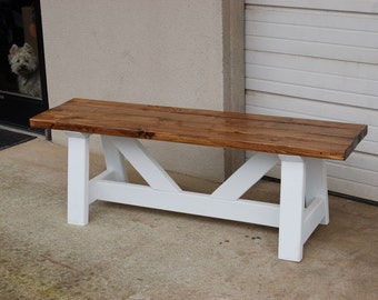 Hand Built Pine Bench