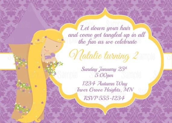 Printable Princess Rapunzel Birthday Party Invitation plus FREE