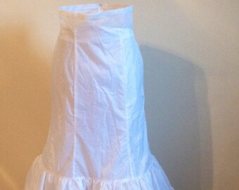 SALE!!  White Long A Line Petticoat Slip Bridal/ Formal Skirt With High Waist