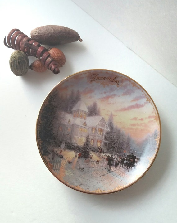 Porcelain Collectible Platethomas Kinkade By Jewelzandbeyond