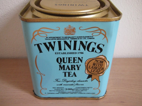 Vintage Twinings Queen Mary Tea Tin
