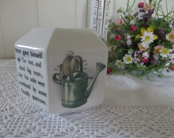 Beatrix Potter vintage 1990's Peter Rabbit money box , Money bank, Peter Rabbit china, Beatrix Potter gift