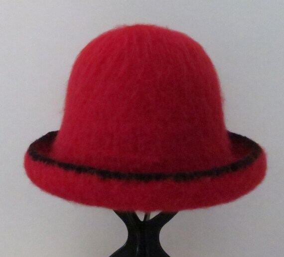 Felted Hat Knitting Pattern : Felted Hat Pattern #202 Felted Bowler, Felt Hat, Knitting Pattern, Felting Pa...