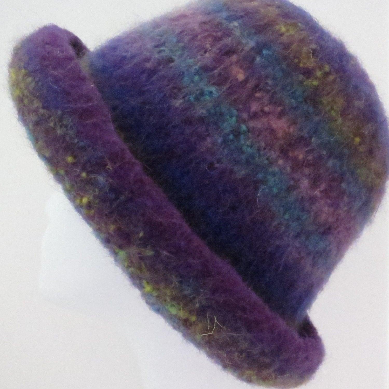 Felted Knit Hat Pattern : Felted Hat Pattern 202 Felted Bowler Felt Hat Knitting