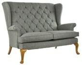 Vintage Parker Knoll Sofa Harris Tweed Wool