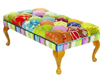 Bespoke Patchwork Footstool/Coffee Table Designers Guild Fabric