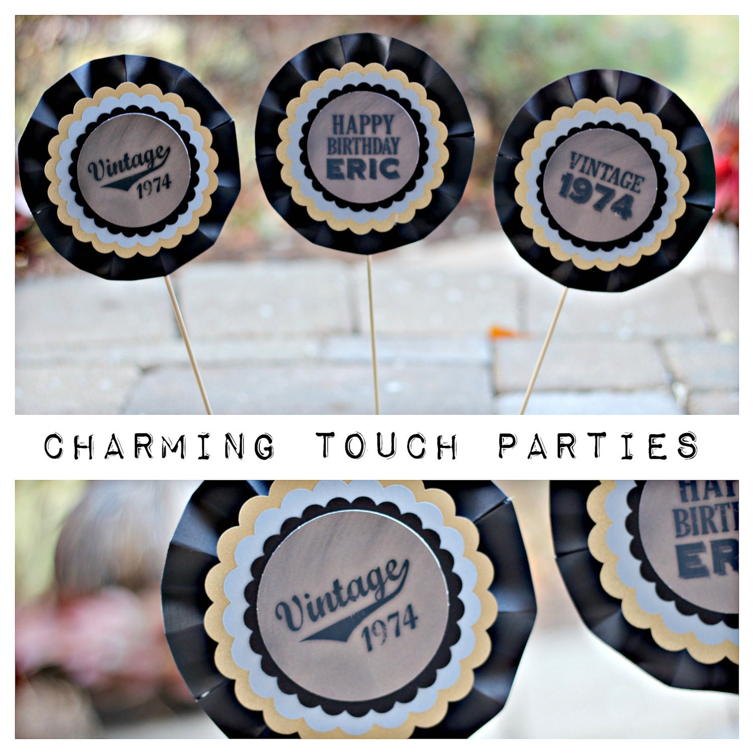 40th birthday party decor centerpiece sticks decoration by for 40th birthday decoration packs