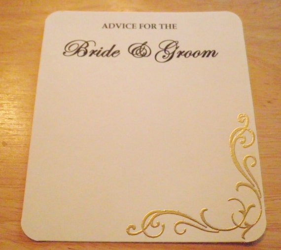 wedding advice cards bridal shower advice cards set of 10
