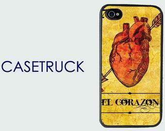 El Corazon Mexican Loteria the Heart iPhone 4 4s 5 5s 5c 6 6S 6S 6+ 6 Plus Custom Case Cover Hard Plastic Rubber Silicone S12