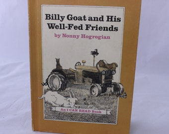 Billy Goat and His Well-Fed Friends, Nonny Hogrogian, 1972, Vintage Picture Book, Vintage Children's Book
