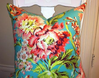 Floral Pillow Cover, Cottage Chic, Designer Pillow Cover