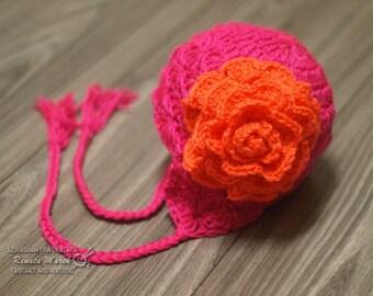 neon crochet hat