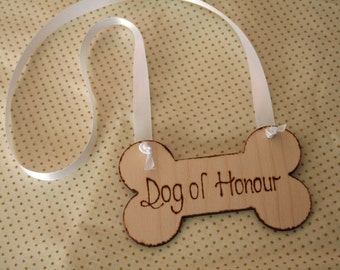 Wedding Dog Collar - Dog of Honour - Pet collar, - Wedding accessory for Pets