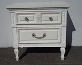 Vintage Dixie NIghtstand Hollywood Regency Night Stand Bedside Table French Provincial Glam chinoiserie dresser CUSTOM PAINT AVAILABLE