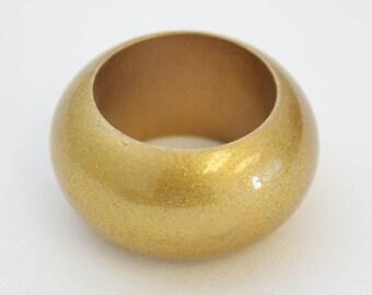 YCC Linen - Acrylic Glittering Napkin Rings Gold